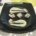 Atún en escabeche con crema de queso y alcachofas por Recetas para cocinillas