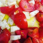 Ensalada de tomate con Queso Record por SoloYo