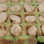 Gofres de espinacas con crema de queso Record por Hablamos de comida