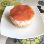Cheesecake salado de salmón con crema de queso record de cabra por Recetas para Cocinillas