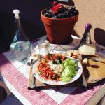 Ensalada con queso Record por María Lopes