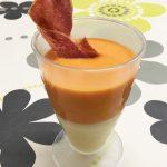 Gazpacho con helado de queso Record y crujiente de jamón por Recetas para Cocinillas
