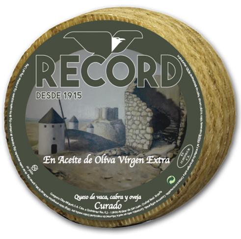 Queso Record de vaca cabra y oveja en Aceite de oliva Virgen Extra