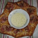 Rosca de hojaldre acompañada de crema de queso Record @Recetas_Recipe