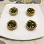 Tartaletas de canónigos, queso y piñones @RCocinillas