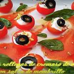 Tomatitos rellenos de crema de queso Record y salsa de membrillo @laramj1982