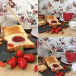 Tostadas con Crema de Queso Record y mermelada de tomate - Sobremesas de Domingo
