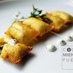 Patatas suflé rellenas de crema de queso Record por Cocina mientras puedas