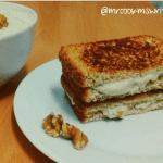 Sandwich de paté de queso de cabra Record con nueces @MrCookMsWrite