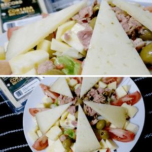 Ensalada de queso Record con manzana @PaZladeando