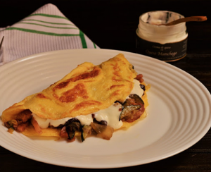 Tortilla rellena con Crema de Queso Record @recetasdenoe