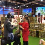 Miembros de la Oficina de Turismo de Alcázar disfrutando de la magia 3D en el stadn de Castilla la Mancha