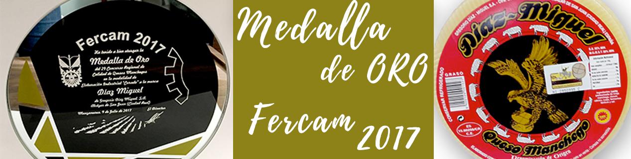 El Queso Curado Díaz-Miguel DOP, medalla de oro de FERCAM 2017
